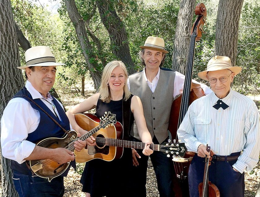 Brantley Kearns, far right, one of the most remarkable performers in contemporary West Coast country music, is performing Sunday at Viva Cantina in Burbank. Performing with him are, from left, Lance Billitzer, Cindy Bell and Al Akture.