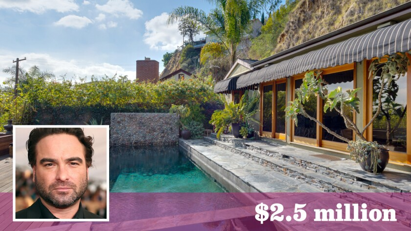 """Johnny Galeck, star of the sitcom """"The Big Bang Theory,"""" received top dollar for his palm-topped bungalow in Hollywood Hills West."""