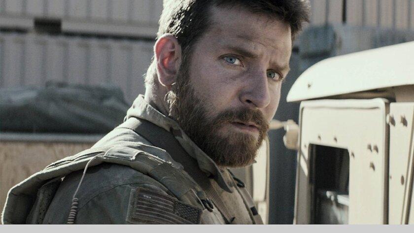 """American Sniper,"" stars Bradley Cooper."