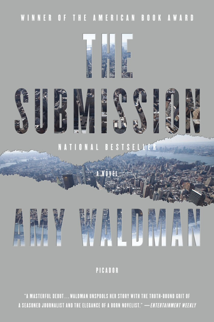 """Book jacket for """"The Submission"""" by Amy Waldman."""