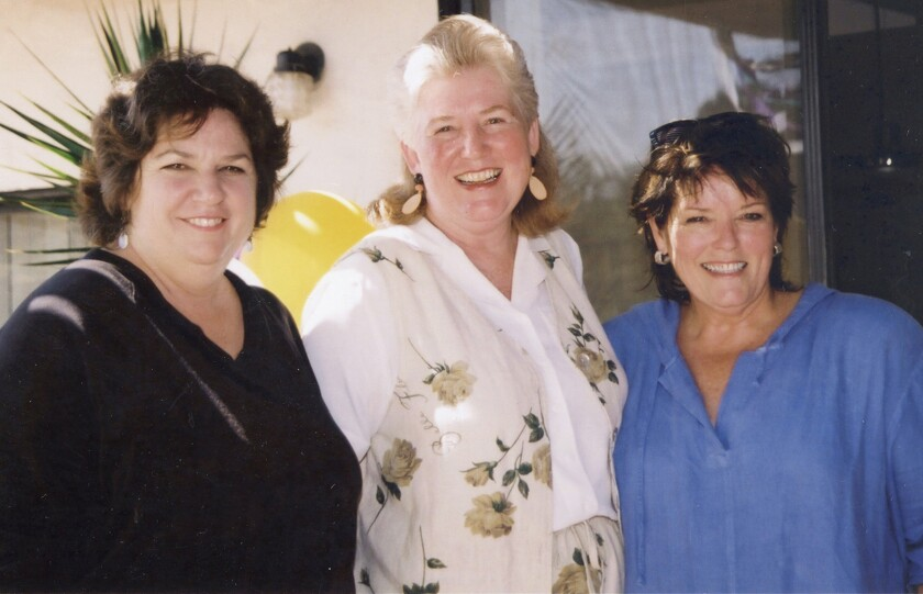 Lin Carnevale, right, celebrates her birthday with Sandra Small and Suzanne Emery.