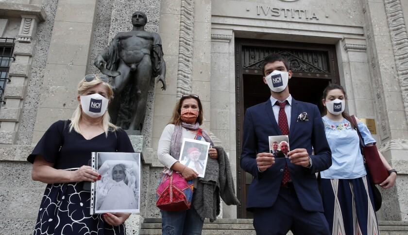 Relatives of COVID-19 victims in Bergamo, Italy