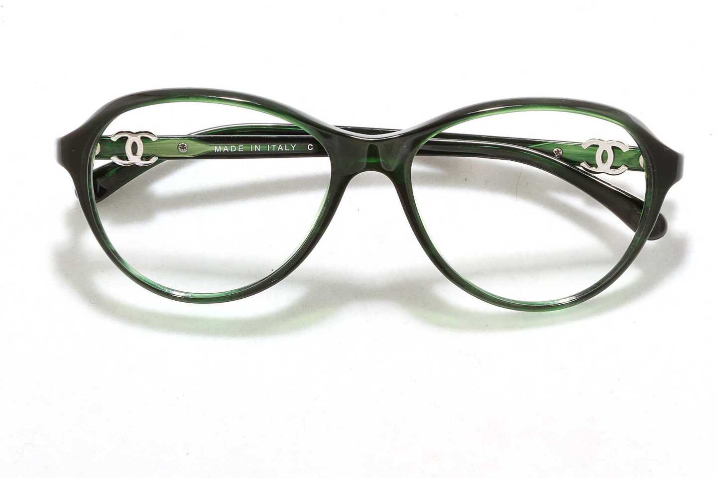 Chanel CH3226, acetate in green, $360.