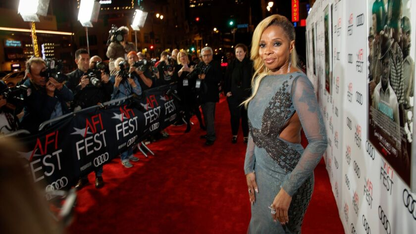 """Mary J. Blige, whose song """"Mighty River"""" is up for a Golden Globe, is also nominated for her acting in """"Mudbound."""""""