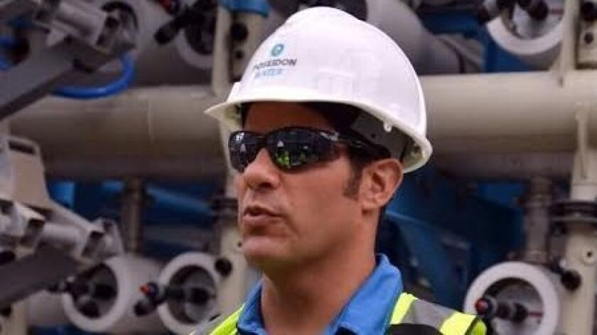 Scott Maloni, vice president of Poseidon Water, tours the company's Carlsbad desalination plant in 2