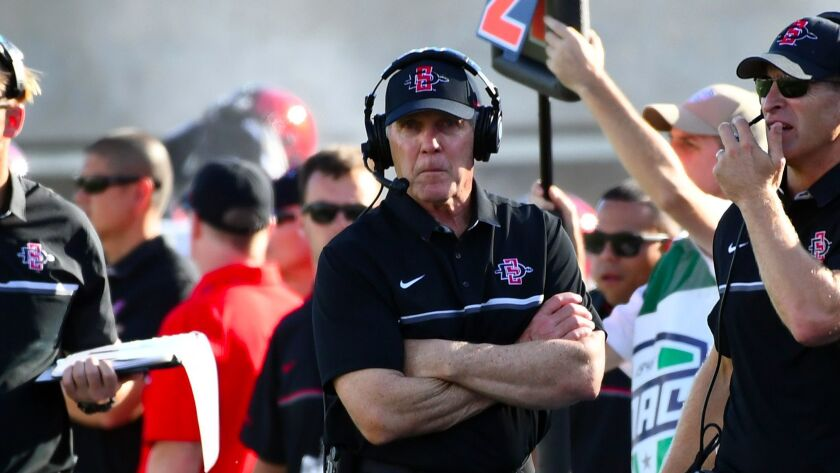 It's a good bet that San Diego State head coach Rocky Long doesn't stretch before walking the sidelines during a game.