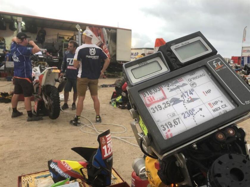 Vista de la hoja de ruta del rally Dakar el pasado 14 de enero de 2019, en Pisco (Perú). EFE