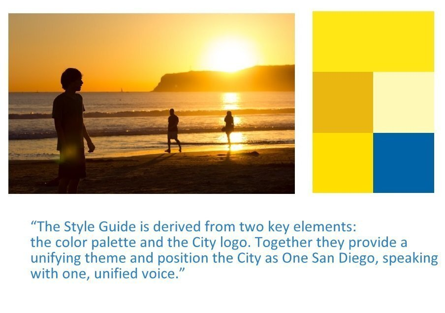 Under a $48,800 contract, San Diego developed a new set of visual and correspondence guidelines and a new city logo. The 82-page guidebook sets out a number of rules for use, with dos and don'ts for the new logo. Click through to see highlights.