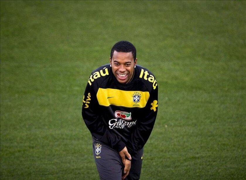 Imagen de archivo del jugador de fútbol brasileño Robinho. EFE/Archivo