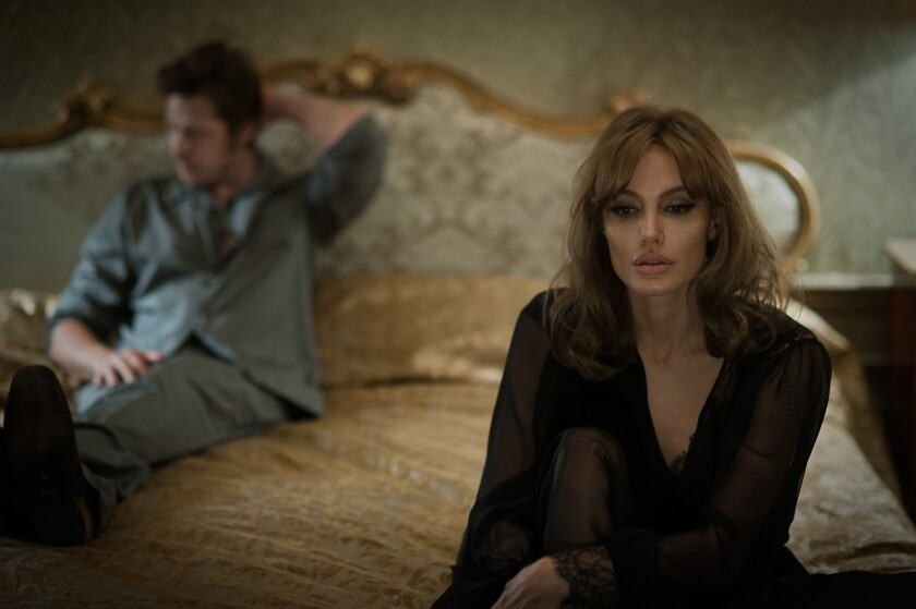 Brad Pitt and Angelina Jolie in 'By the Sea'