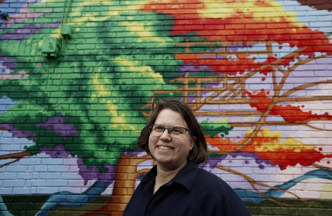 Kathy Schuth runs a community affordable housing group in the Near Northwest Neighborhood of South Bend, Ind.