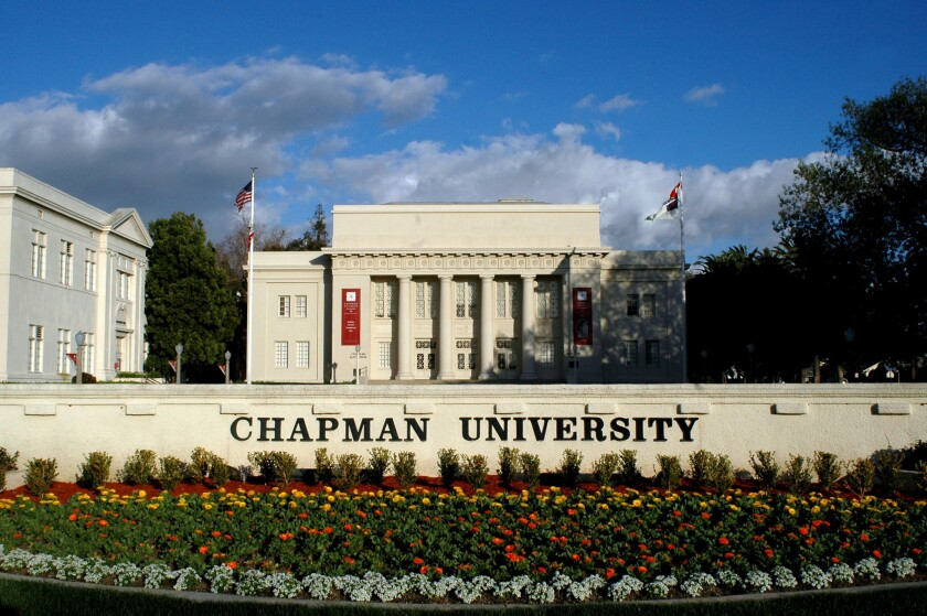 Chapman University in Orange was sued by two of its donors.