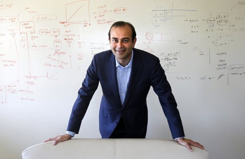 Pratik Shah, chief executive of Auspex Pharmaceuticals. He was photographed in 2012, when he was a San Diego-based venture capital investor. Shah became Auspex CEO in 2013.