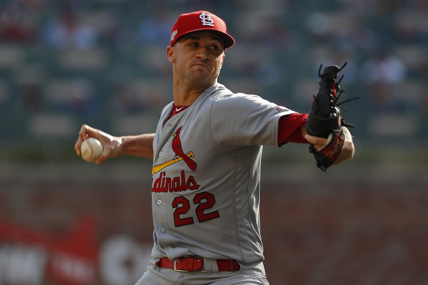 Cardinals starter Jack Flaherty delivers against the Braves in Game 2 of the National League Division Series on Oct. 4.