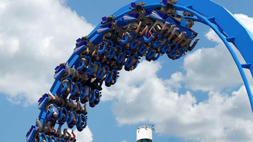 Patriot floorless coaster at California's Great America