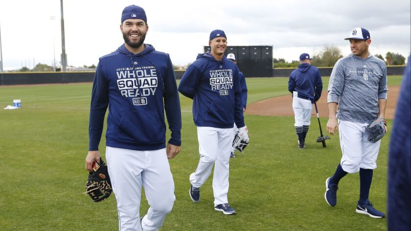 Eric Hosmer, Manny Machado and Ian Kinsler look to usually be atop the Padres batting order.