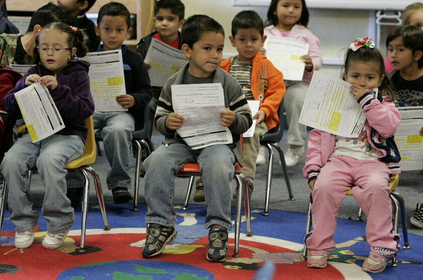 Students at the V.I.P. Village preschool in Imperial Beach [U-T file]