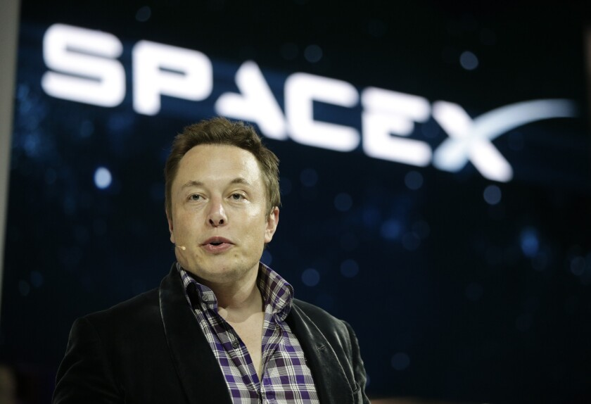Elon Musk, SpaceX's chief executive, at the company's Hawthorne headquarters in May.