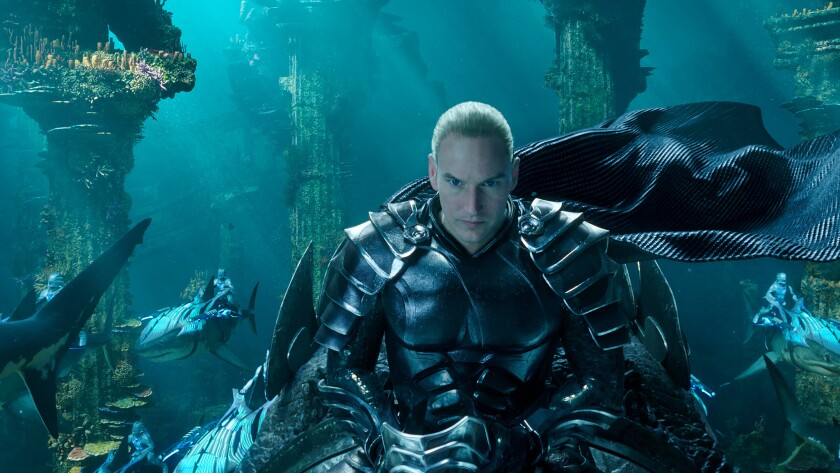 """This image released by Warner Bros. Pictures shows Patrick Wilson in a scene from """"Aquaman."""" (Warner"""