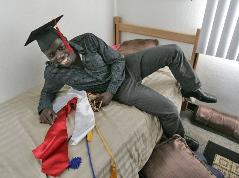 Rakim Johnson graduated from UCSD on Saturday with a degree in economics. He'll attend Stanford Law School in the fall.