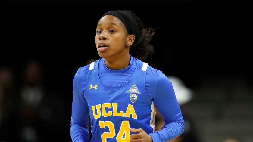 UCLA guard Japreece Dean in the first half against Colorado on Jan. 12 in Boulder, Colo.