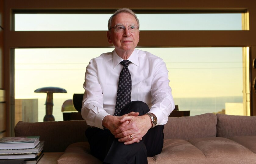 Irwin Jacobs at his home in La Jolla in December.