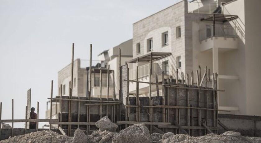 Construction in West Bank settlement