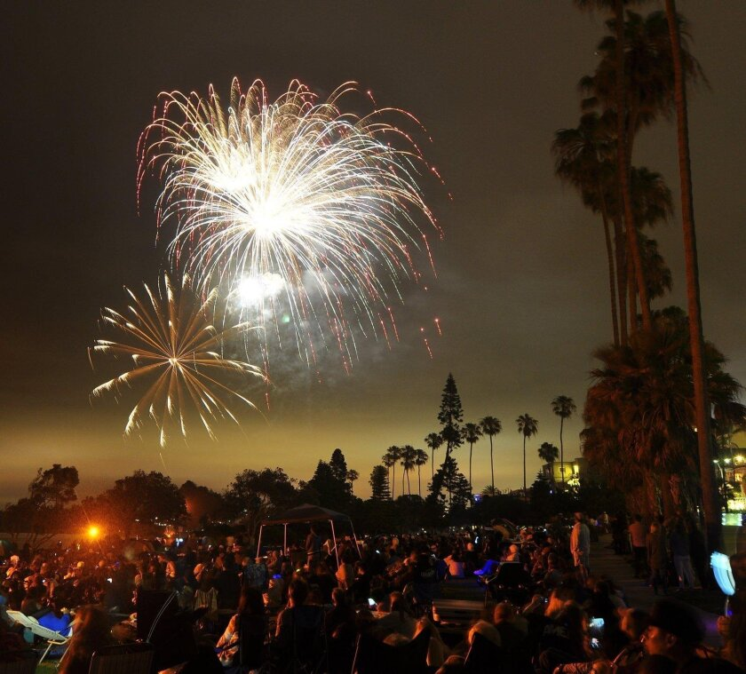 Likely due to a technical error, the fireworks show at La Jolla Cove experiences a black-out 10 minutes into the boom-booms.