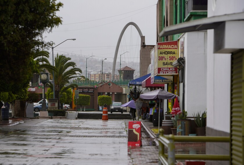 Una calle de Tijuana.
