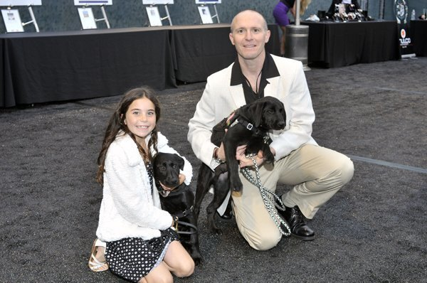 Lizzie Miller, John Previtera of Trident Manor Kennels who donated auction puppies (www.tridentmanorkennels.com)