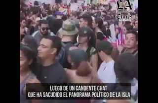 Marchan los puertorriqueños exigiendo la renuncia del gobernador