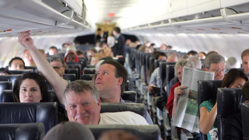 Passengers on an Allegiant Air flight.