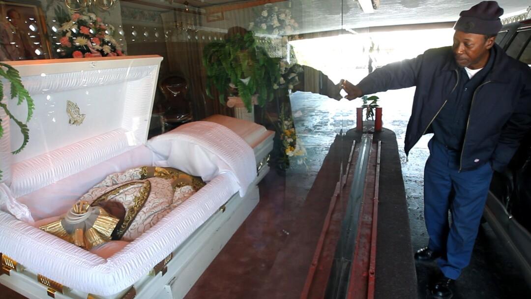 Adams Mortuary drive-through funeral