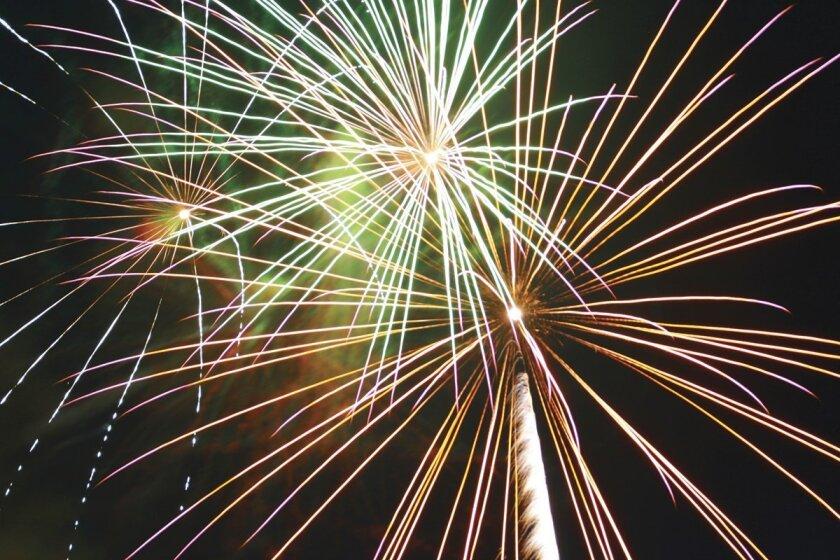 colorful fireworks against a black sky