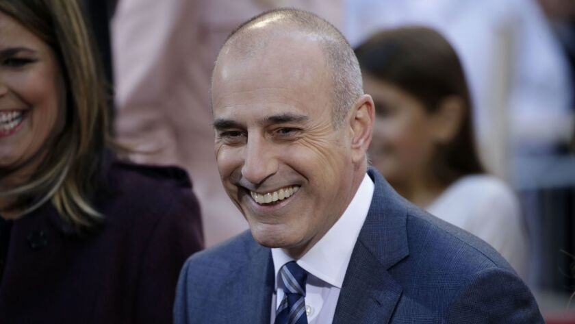 """Matt Lauer during a broadcast of """"Today"""" in New York in April 2016."""