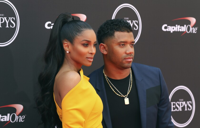 Ciara and Russell Wilson at the ESPY Awards