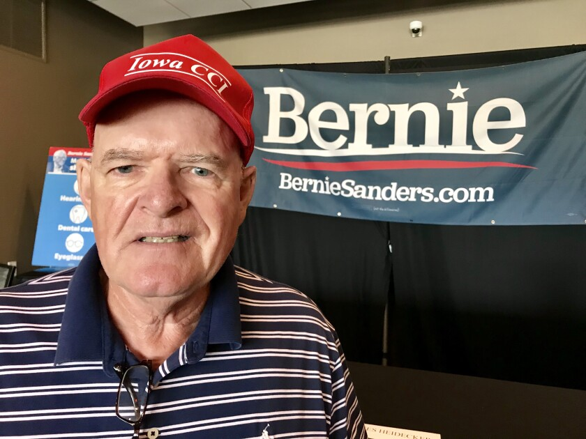 John Blasingame likes Kamala Harris and Elizabeth Warren but supports Sanders because of his longstanding consistency.