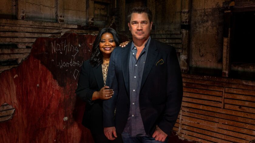 LOS ANGELES, CA--MAY 15, 2019--Oscar-winning actress Octavia Spencer and director Tate Taylor are ph