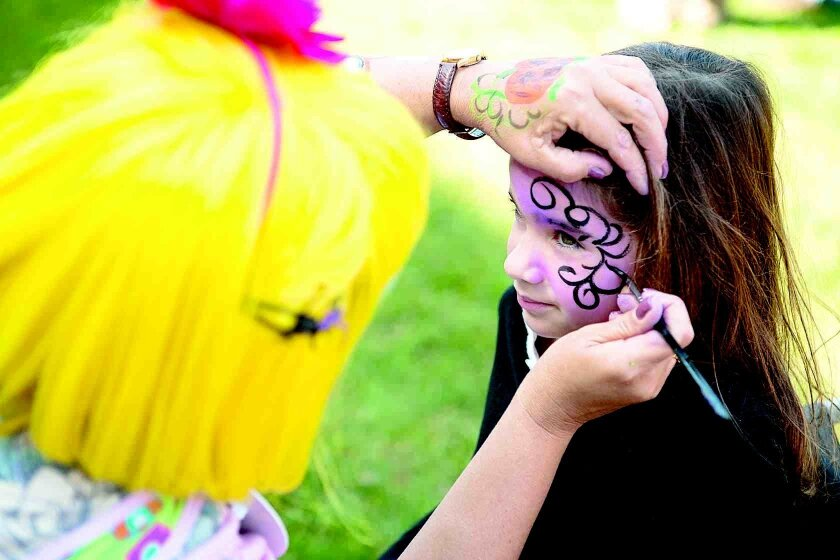 Face painting is part of the fun at the La Jolla Shores Fall Fest.