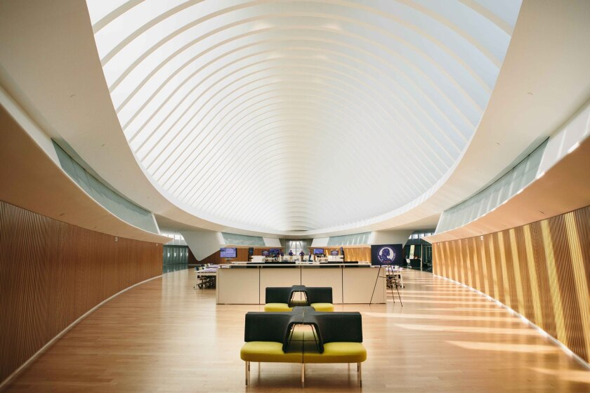 Florida Polytechnic University's Commons includes the campus library, which has no books.