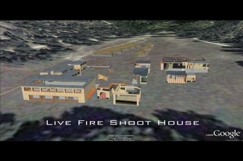 The marketing video describes a range of features at the training center, including a live-fire complex as shown in this computerized rendering.