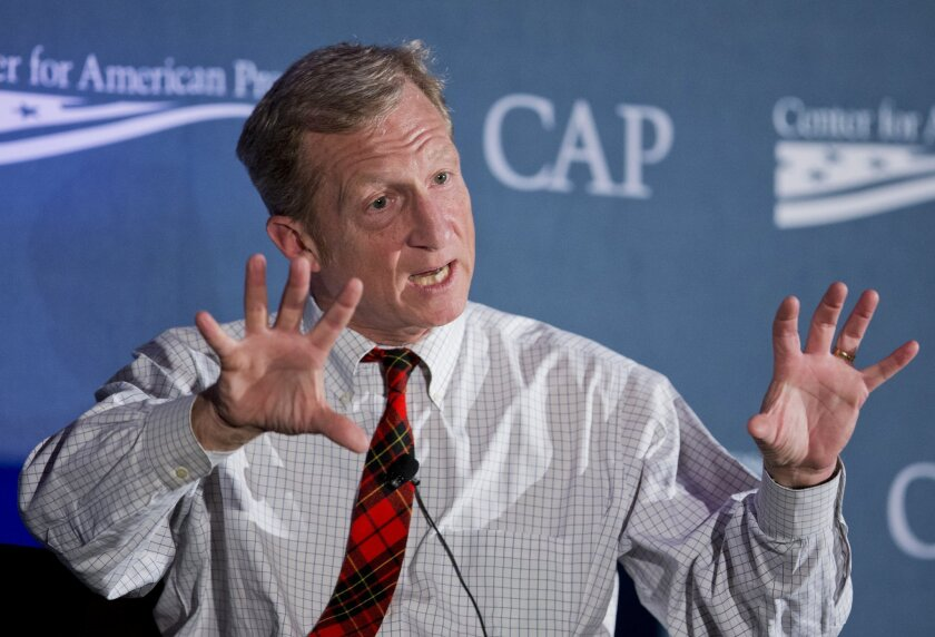 Philanthropist and environmentalist Tom Steyer is among those Californians headed for the global climate summit in Paris.