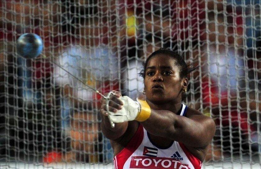 Imagen de archivo de la atleta cubana Yipsi Moreno. EFE/Archivo