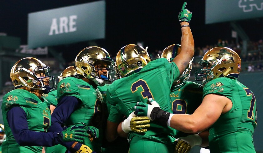 Notre Dame drops out of top four in College Football Playoff rankings