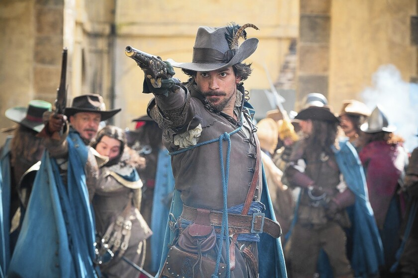 """Aramis (Santiago Cabrera) is ready for action in """"The Musketeers."""""""