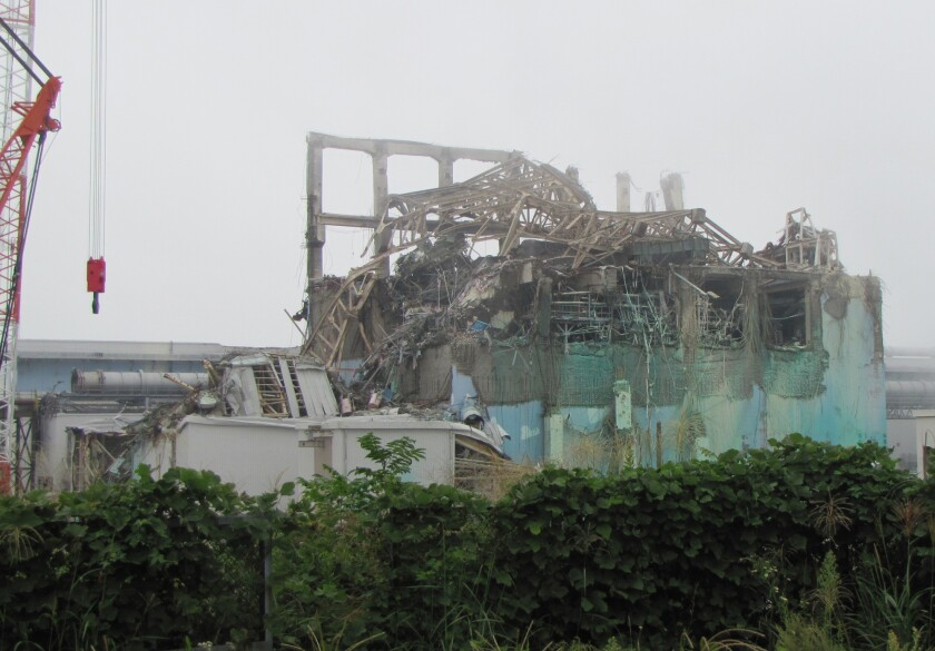 The ruined Unit 3 reactor building at the Fukushima Dai-ichi nuclear power plant on Sept. 15, 2011.