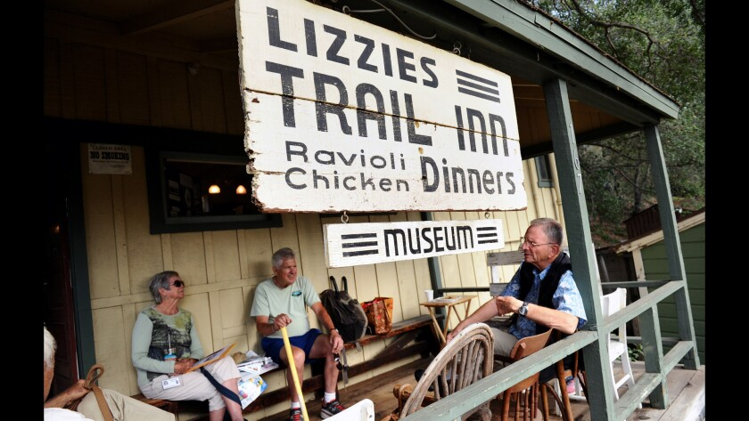 "Start this walk from the front of Lizzie's Trail Inn at 167 E. Mira Monte Ave. Locals gather outside the museum in Sierra Madre, which was the gateway to the San Gabriel wilderness during the ""great hiking era"" of the early 1900s."