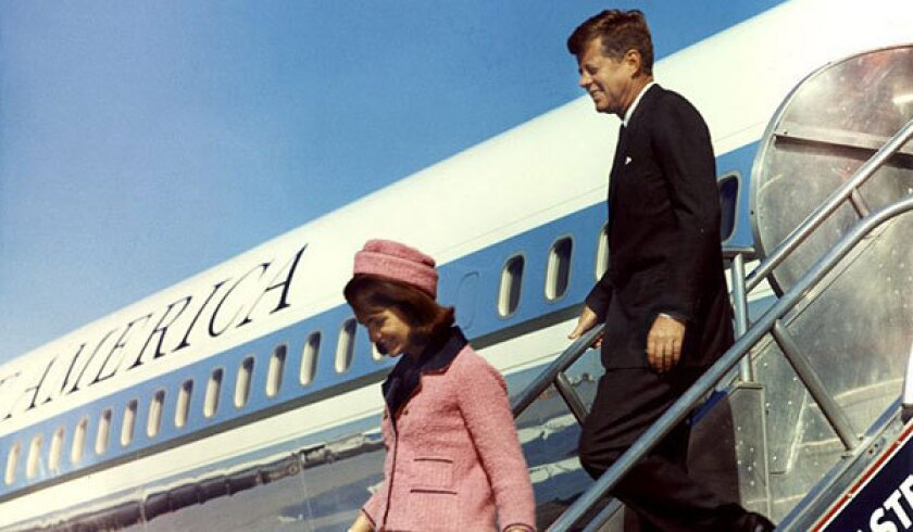 President and Mrs. Kennedy arrive in Dallas on Nov. 22, 1963.