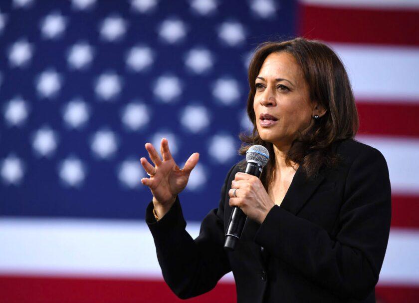 La candidata demócrata a la vicepresidencia, Kamala Harris.