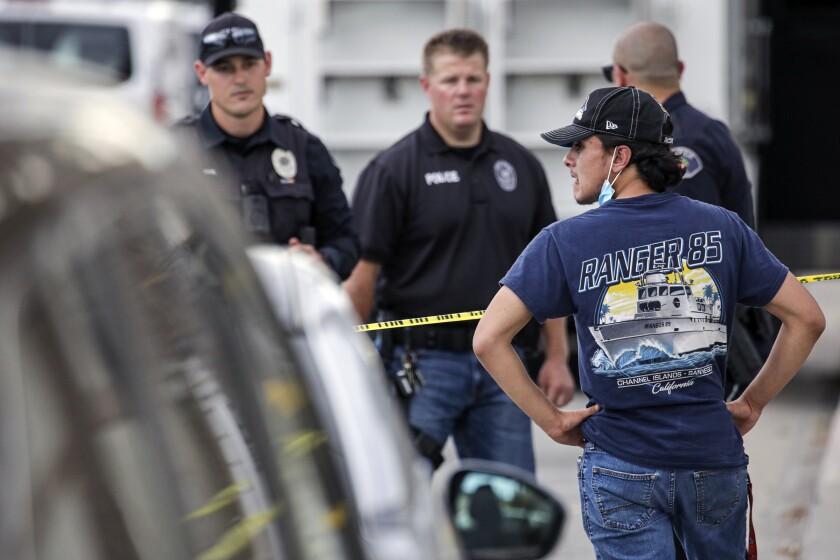 Police investigate a shooting in Orange.